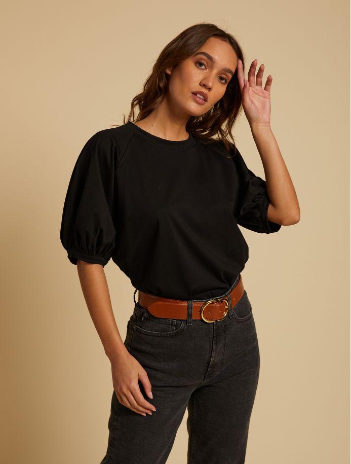 T-shirt Kristen noir