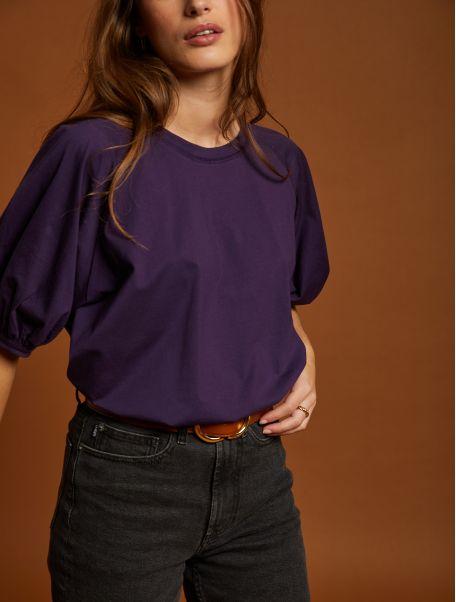 T-shirt Kristen raisin