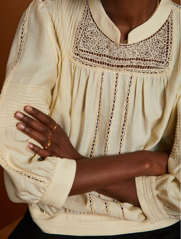 Écru Elfie blouse