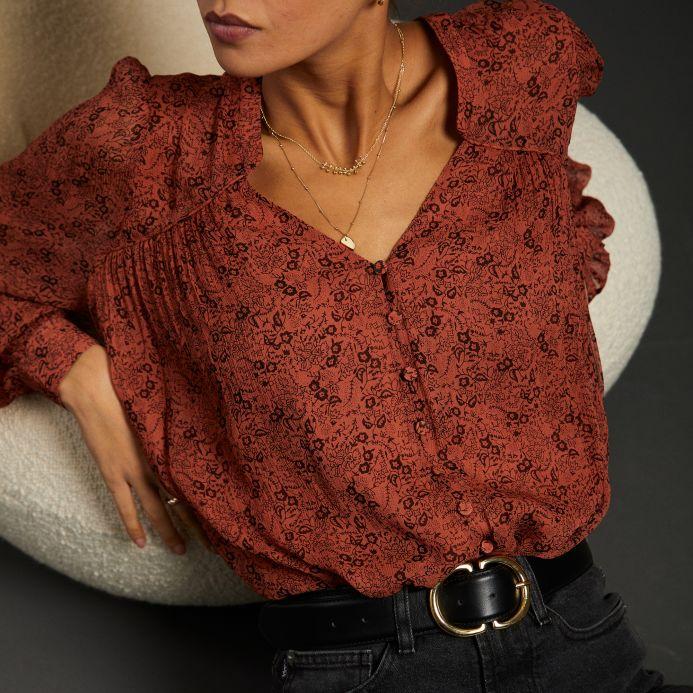 Terracotta Florianne shirt