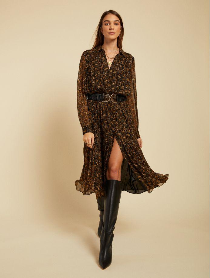 Noir Flore dress