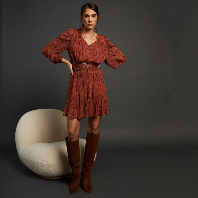 Terracotta Faustine dress