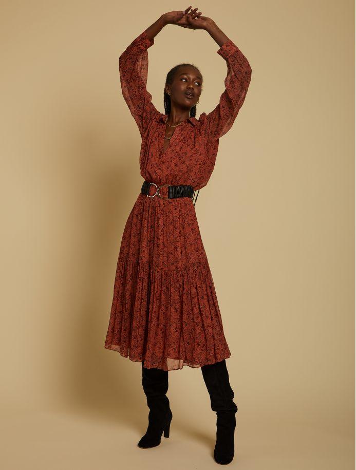 Terracotta Flore dress