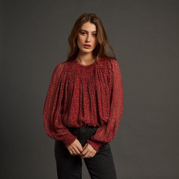Carmin Solange blouse
