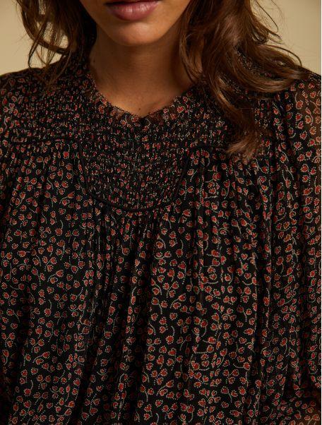 Noir Solange blouse