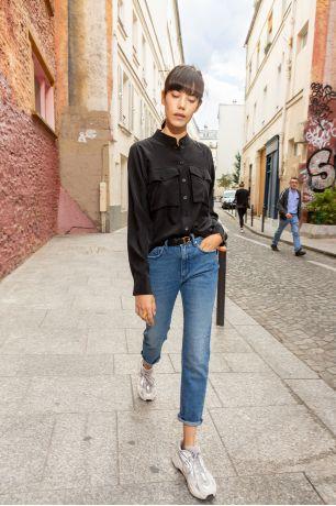 Noir Florence shirt Idano