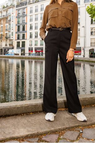 Pantalon Glodia noir Idano