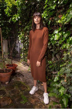 Robe Olive châtaigne Idano