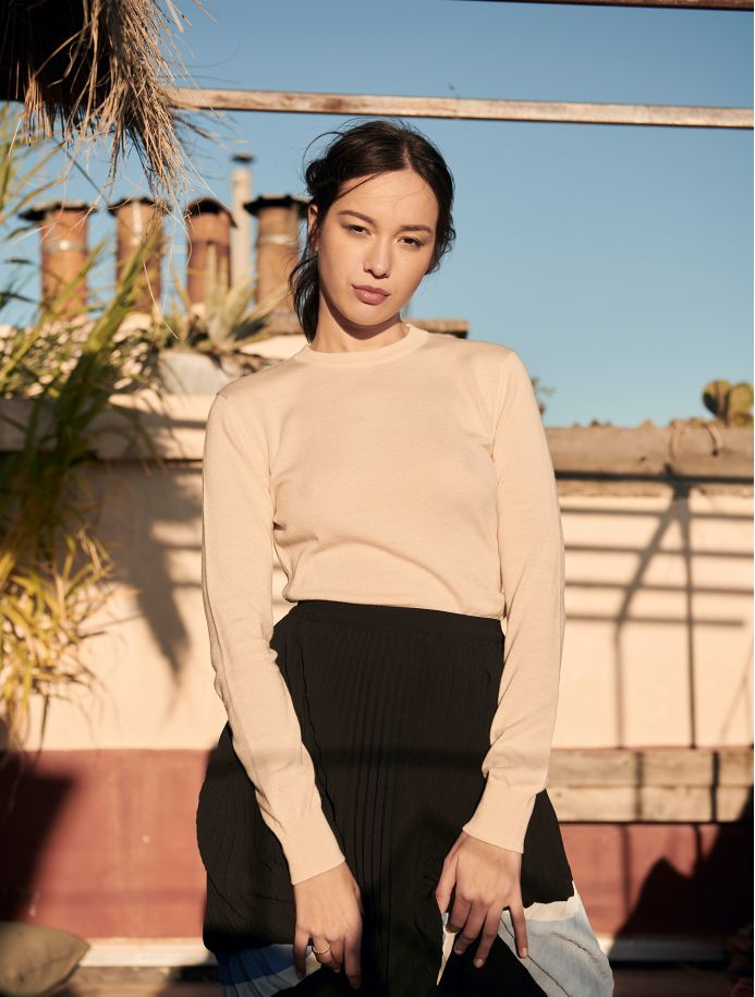 Champagne Roxanne sweater