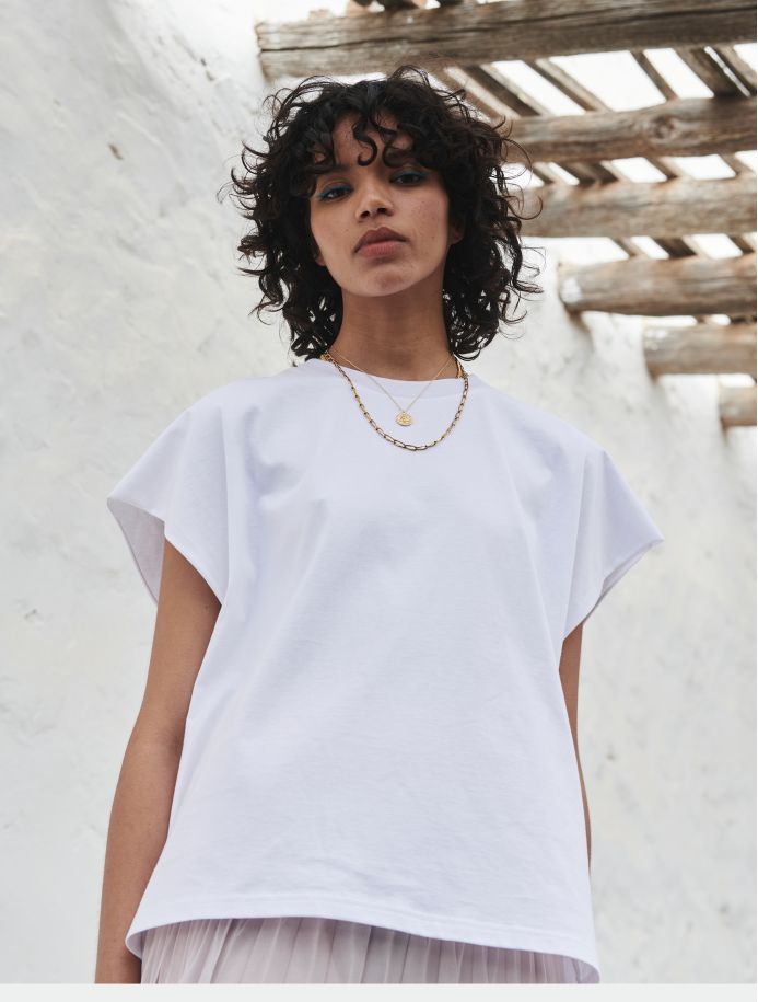 T-shirt Octavie blanc