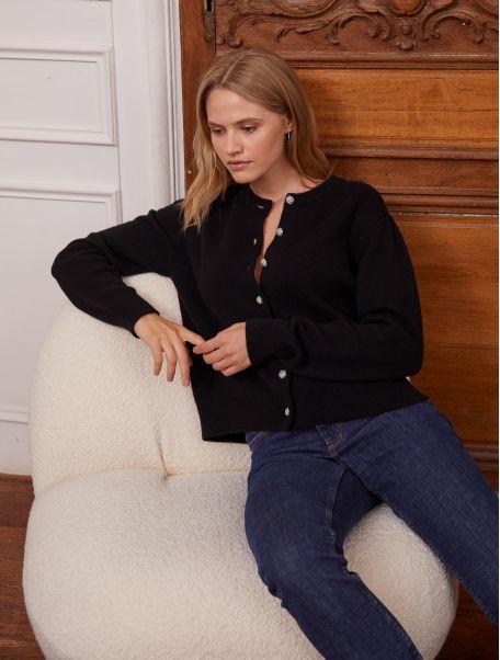 Noir Orianne cardigan