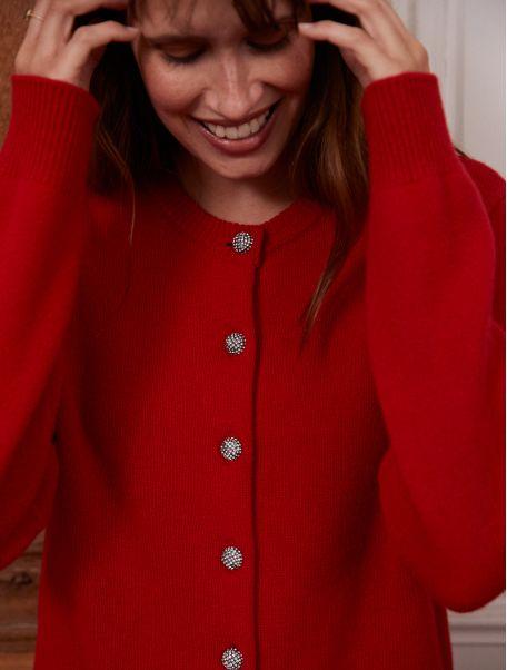 Cardigan Orianne rouge